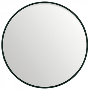 Oglinda rotunda neagra din MDF si sticla 150 cm Black Lifestyle Home Collection
