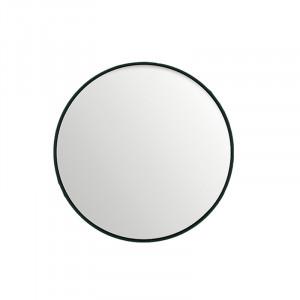 Oglinda rotunda neagra din MDF si sticla 50 cm Black Lifestyle Home Collection