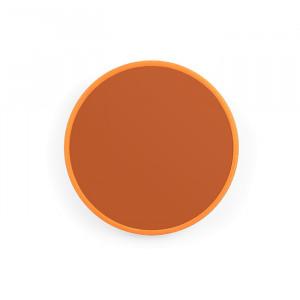 Oglinda rotunda portocalie din metal 45 cm You're So Ugly M Bold Monkey