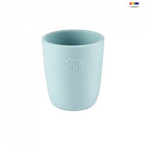 Pahar albastru din silicon 6,6x7,4 cm Mini Blue Done by Deer