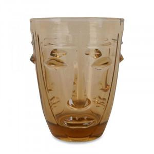 Pahar maro chihlimbar din sticla 8x10 cm Judit Opjet Paris