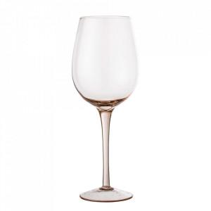 Pahar roz din sticla pentru vin 580 ml Liga Bloomingville