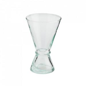 Pahar transparent din sticla reciclata pentru vin 8x13 cm Beldi Madam Stoltz
