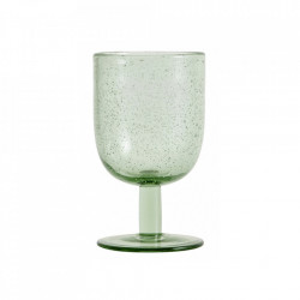 Pahar verde din sticla pentru vin 280 ml Maroc Nordal