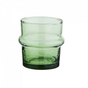 Pahar verde din sticla reciclata 5,5x6 cm Beldi Madam Stoltz