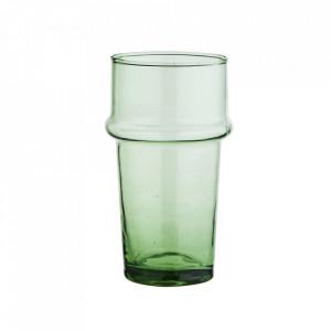 Pahar verde din sticla reciclata 6,5x11,5 cm Beldi Madam Stoltz