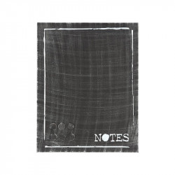 Panou memo negru din metal 36x46 cm Alana Notes LABEL51