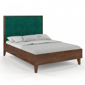 Pat maro din lemn de pin 180x200 cm Frida Nut Skandica