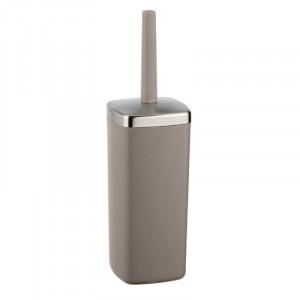 Perie grej/argintie din elastomer termoplastic pentru toaleta Tessa Wenko