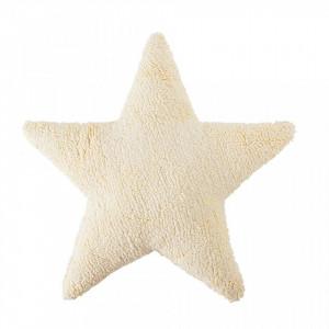 Perna decorativa crem vanilie din bumbac pentru copii 54x54 cm Star Vanilla Lorena Canals