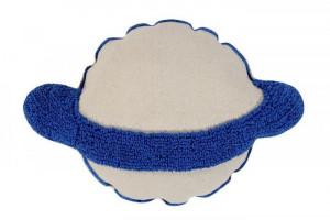 Perna decorativa dreptunghiulara crem/albastru din bumbac 40x60 cm Saturn Lorena Canals