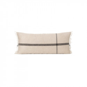 Perna decorativa dreptunghiulara maro camel/neagra din bumbac si in 38x88 cm Calm Ferm Living
