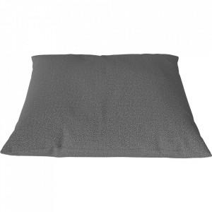 Perna decorativa patrata gri din textil 50x50 cm Classic Ascot Bolia