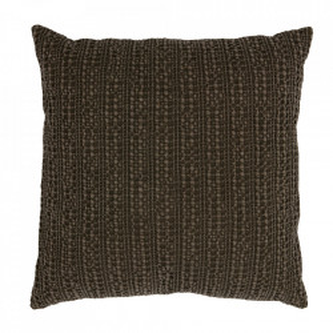 Perna decorativa patrata maro inchis din bumbac 45x45 cm Grainy Be Pure Home