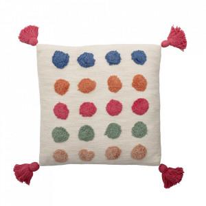 Perna decorativa patrata multicolora din bumbac 40x40 cm Dots Bloomingville