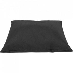 Perna decorativa patrata neagra din piele 60x60 cm Classic Quattro Traceable Bolia