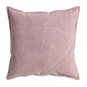Perna decorativa patrata roz din bumbac 45x45 cm Hale Ixia