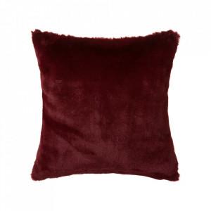 Perna patrata rosu amarant din poliester pentru sezut 45x45 cm Pluto Unimasa