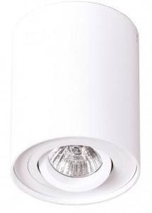 Plafoniera alba din aluminiu Basic Round White Maxlight