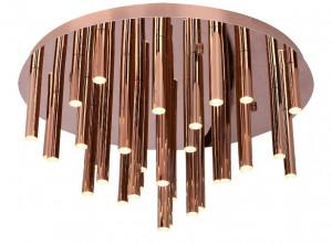 Plafoniera aramie din metal si plastic cu 33 LED-uri Organic Copper Ceiling Large Maxlight