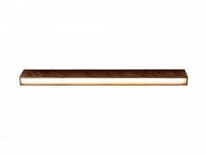 Plafoniera maro din lemn cu LED Line Plus L Wood Nut Custom Form