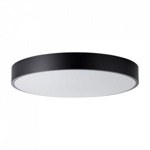 Plafoniera neagra/alba din plastic si metal cu LED Slimline Large Brilliant
