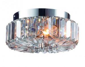 Plafoniera transparenta/argintie din cristal si metal cu 2 becuri Ulriksdal Markslojd