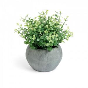 Planta artificiala cu ghiveci din ciment 19.1 cm Eucaliptus Kave Home
