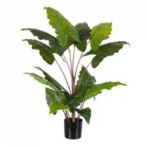 Planta artificiala cu ghiveci din PVC 130 cm Colocasia Ixia