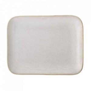 Platou alb din ceramica 18x25 cm Carrie Bloomingville