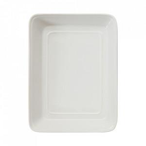 Platou alb din ceramica 19x25,5 cm Tobhias Bloomingville