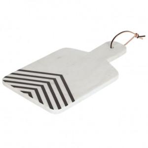 Platou alb din marmura 23x38 cm Imeris Kave Home