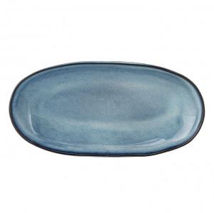 Platou albastru din ceramica 23 cm Sandrine Bloomingville