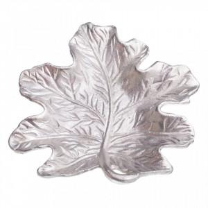 Platou decorativ argintiu din metal Centra Ixia