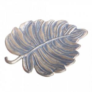 Platou decorativ gri/auriu din metal Tamaka Ixia