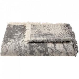 Pled gri inchis din textil 140x190 cm Shore Bolia