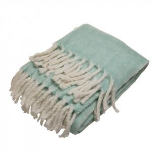 Pled turcoaz din fibre acrilice 127x152 cm Gali Turquoise Zago