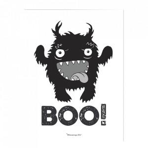 Poster alb/negru din hartie 30x40 cm BOO Bloomingville