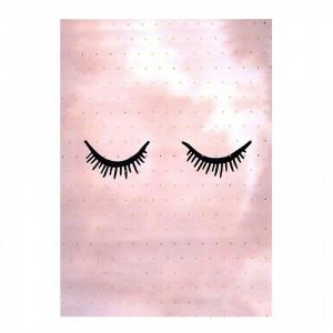 Poster roz din hartie 30x40 cm Rosalia Bloomingville Mini