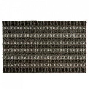 Pres dreptunghiular gri din polipropilena pentru intrare 50x80 cm Brossa Lako