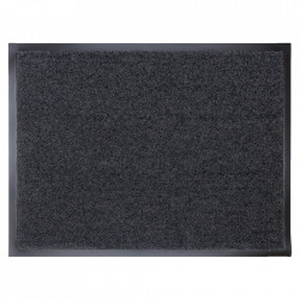 Pres dreptunghiular negru din poliamida pentru intrare 60x80 cm Continental Lako
