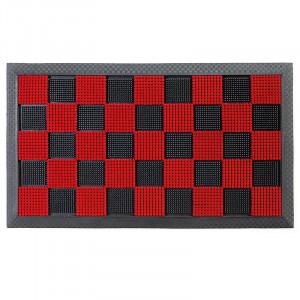 Pres dreptunghiular rosu din cauciuc si poliamida pentru intrare 40x60 cm PinPin Lako