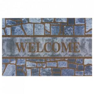 Pres gri/maro dreptunghiular pentru intrare din polipropilena 45x70 cm Dorana The Home