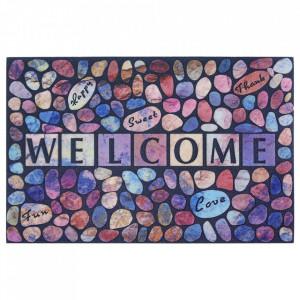 Pres multicolor dreptunghiular pentru intrare din polipropilena 45x70 cm Dante The Home