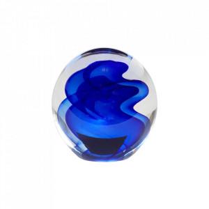 Prespapier albastru din sticla si hartie Johnson Hubsch
