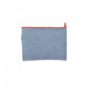 Prosop albastru/portocaliu din bumbac 40x60 cm Tea Towel Hubsch