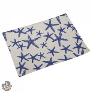 Protectie masa dreptunghiulara alba/albastra din poliester 36x48 cm Bluesea Placemat Versa Home
