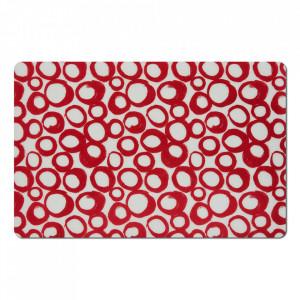 Protectie masa dreptunghiulara rosie din polipropilena 28,5x43,5 cm Loop Zeller