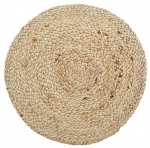 Protectie masa rotunda maro din iuta 35 cm Placemat Round Natural Nordal