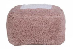 Puf patrat nude din bumbac pentru copii 18x39 cm Marshmallow Vintage Nude Lorena Canals